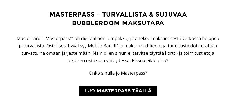 Bubbleroom ♥ Masterpass