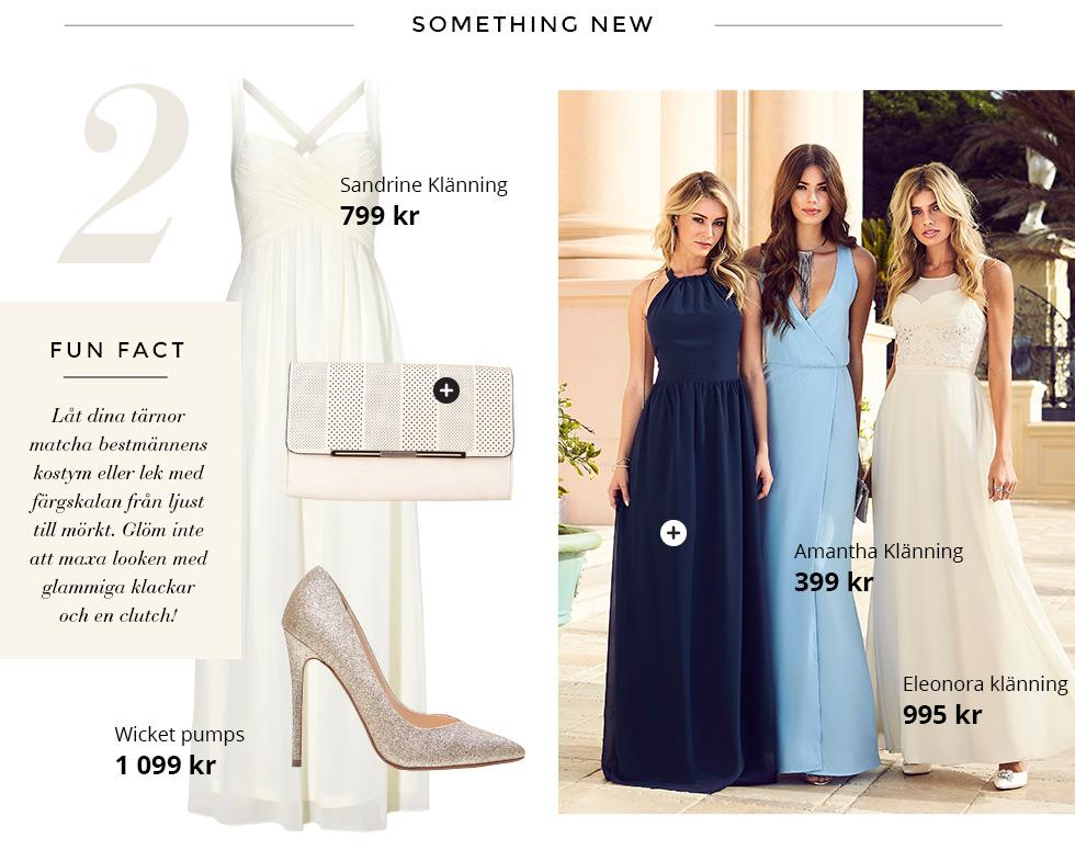 Chiara Forthi vit klänning, Glittriga pumps och beige clutch väska