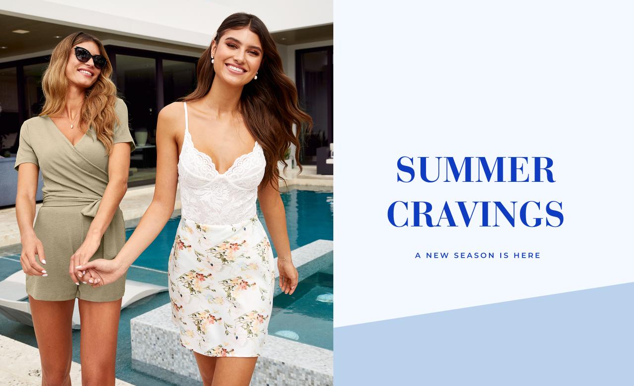 Sommarens nyheter är här! Jumpsuits, spetslinne och blommig kjol.