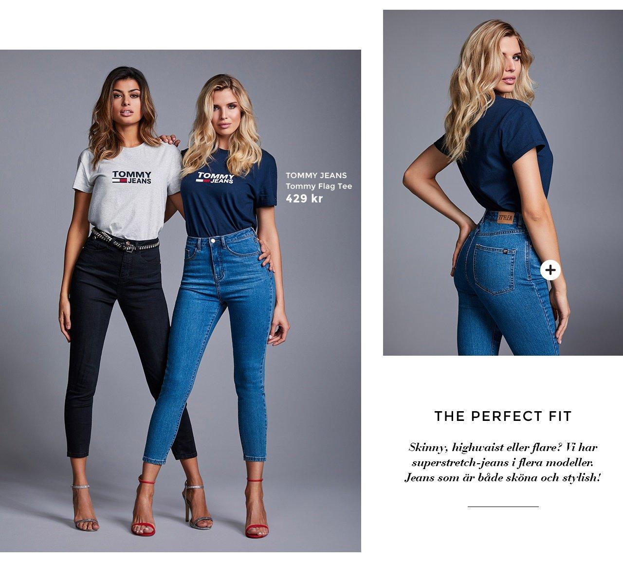 Tommy flag tee - Felice high waist jeans