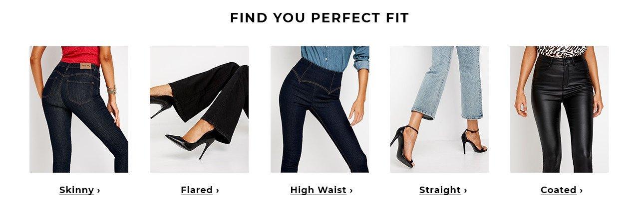 Hitta den perfekta jeans passformen på Bubbleroom - Skinny, High waist, Flared, Straight, Coated eller Push-up jeans