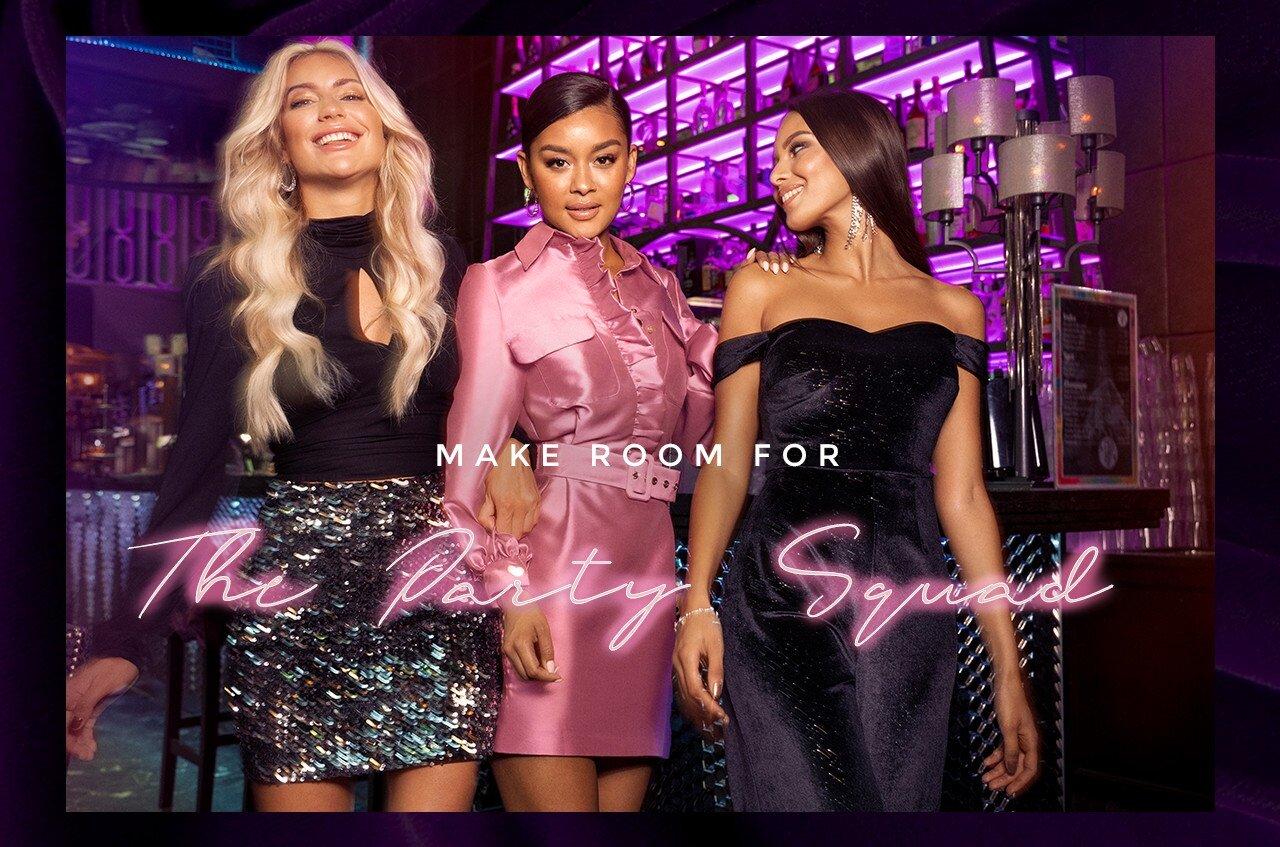 Glittriga kjolar, partyklänningar från Bubbleroom och Lars Wallin