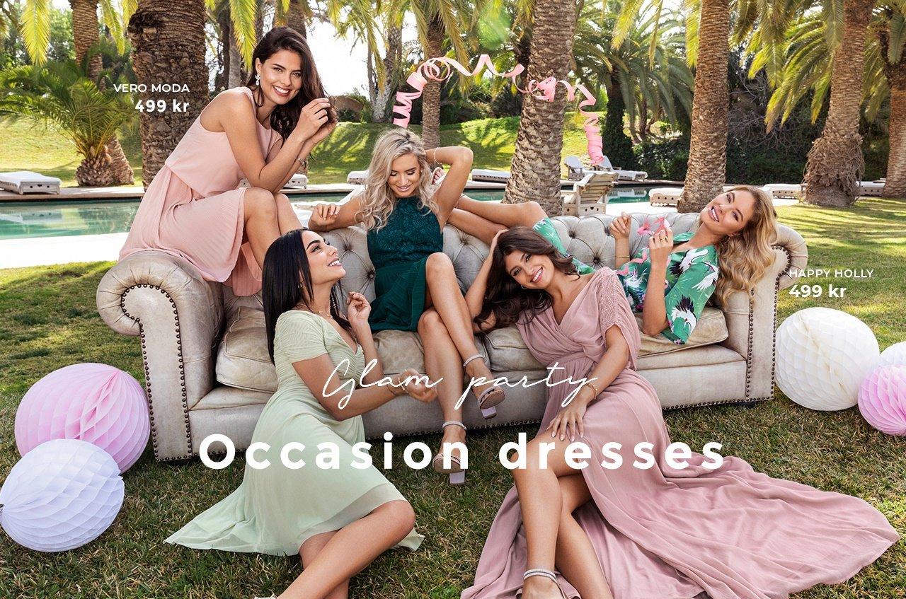 Maxiklänningar, korta festklänningar för sommarens alla fester