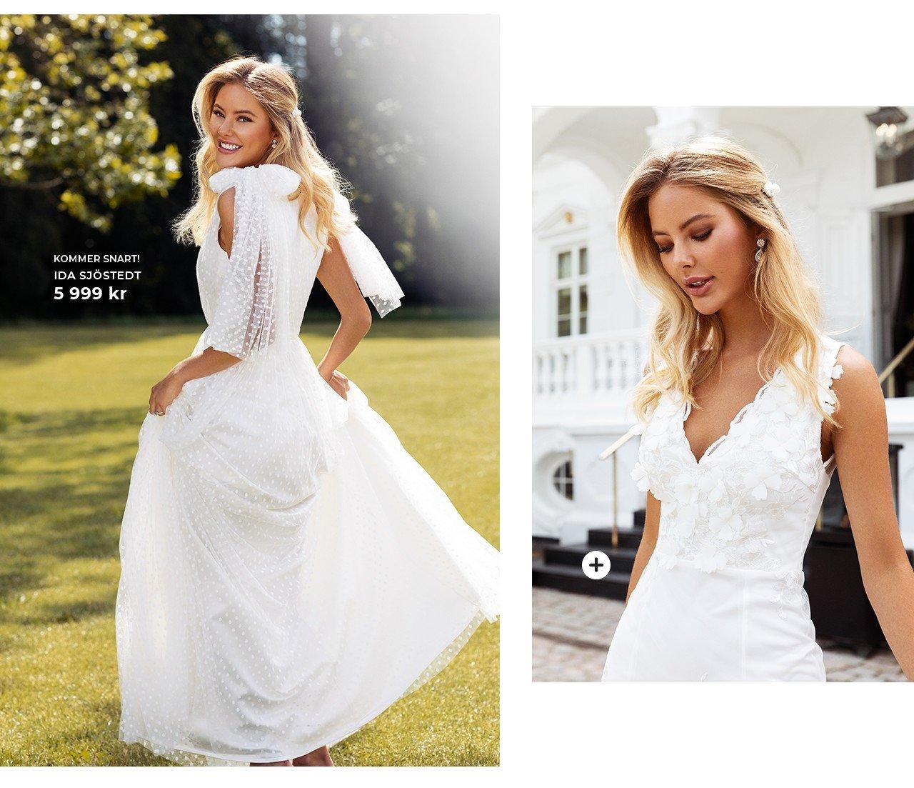 Lyxiga brudklänningar från Ida Sjöstedt och Moments New York