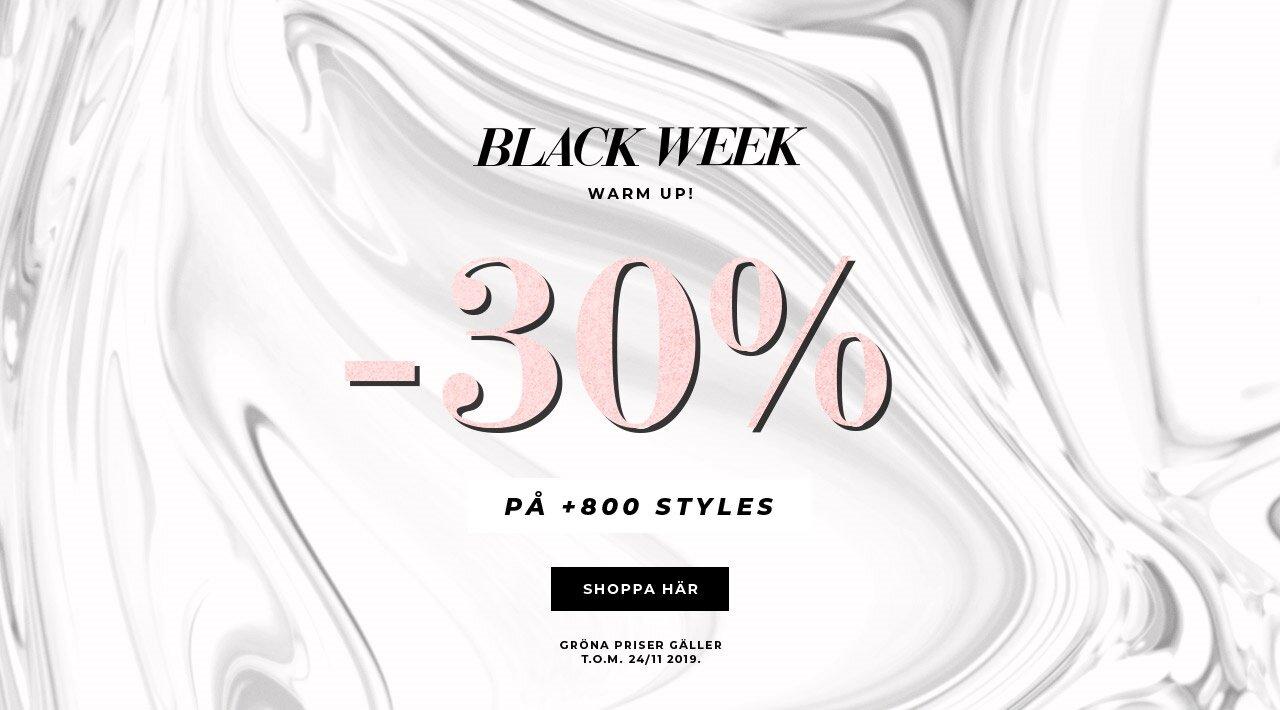 Black Week Warm up: -30% på +800 styles