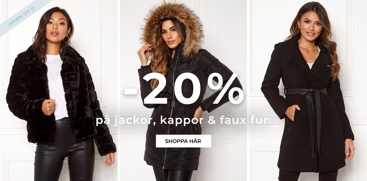 -20% på jackor, kappor och faux fur. Shoppa här!