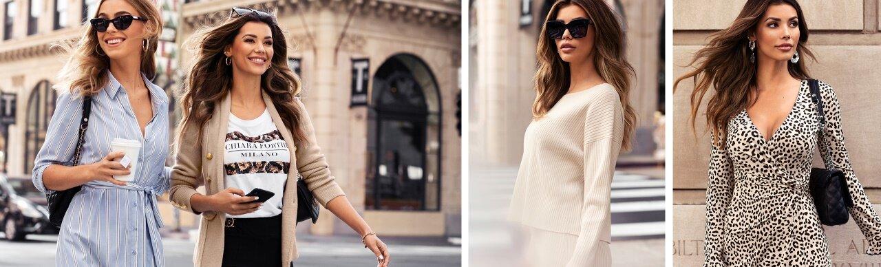 Shoppa snygga klänningar, toppar och vårjackor på Bubbleroom