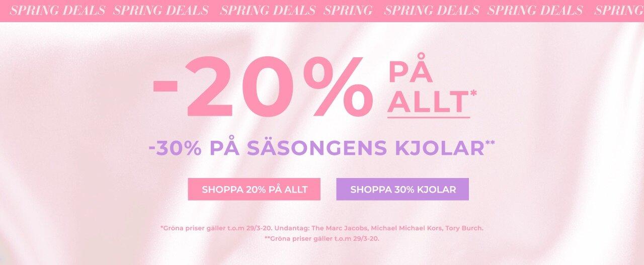 -20% på allt + -30% på säsongens kjolar - Shoppa här