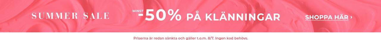 Minst 50% på klänningar - shoppa nu
