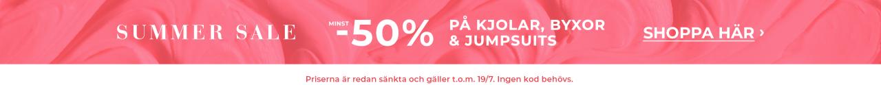 Minst 50% på kjolar, byxor och jumpsuits - shoppa här