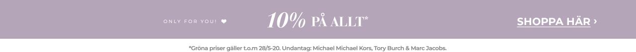 10% på allt