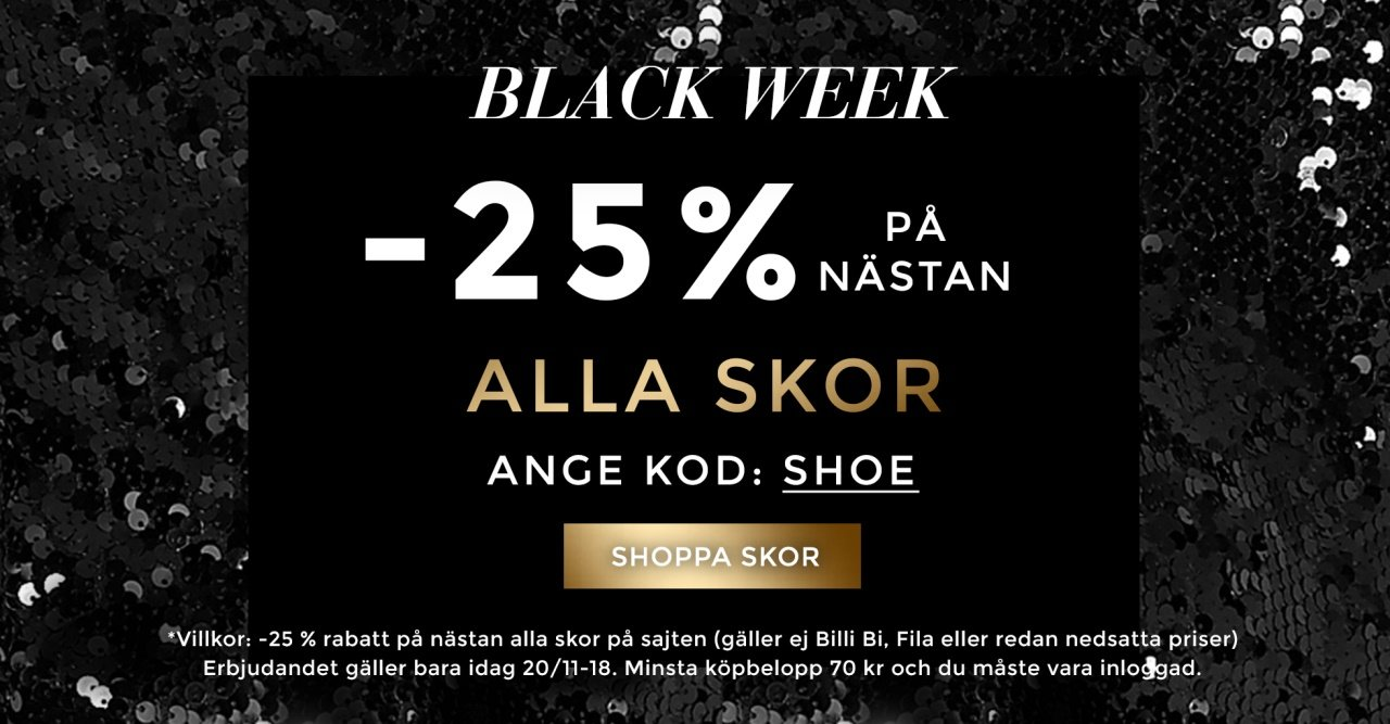25% på massor av skor, boots och högklackat