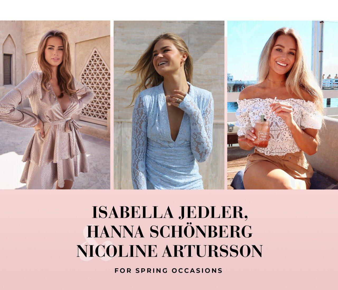 Isabella Jedler, Hanna Schönberg & Nicolen Artursson or spring occasions