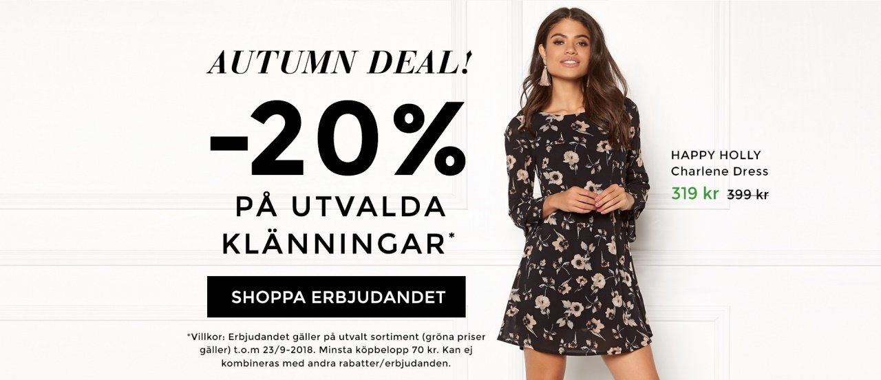 20% rabatt på utvalda klänningar