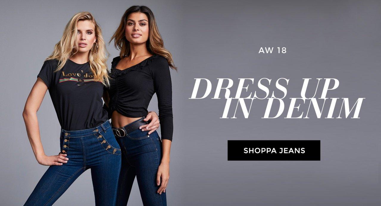 Flared jeans, skinny jeans och highwaisted jeans