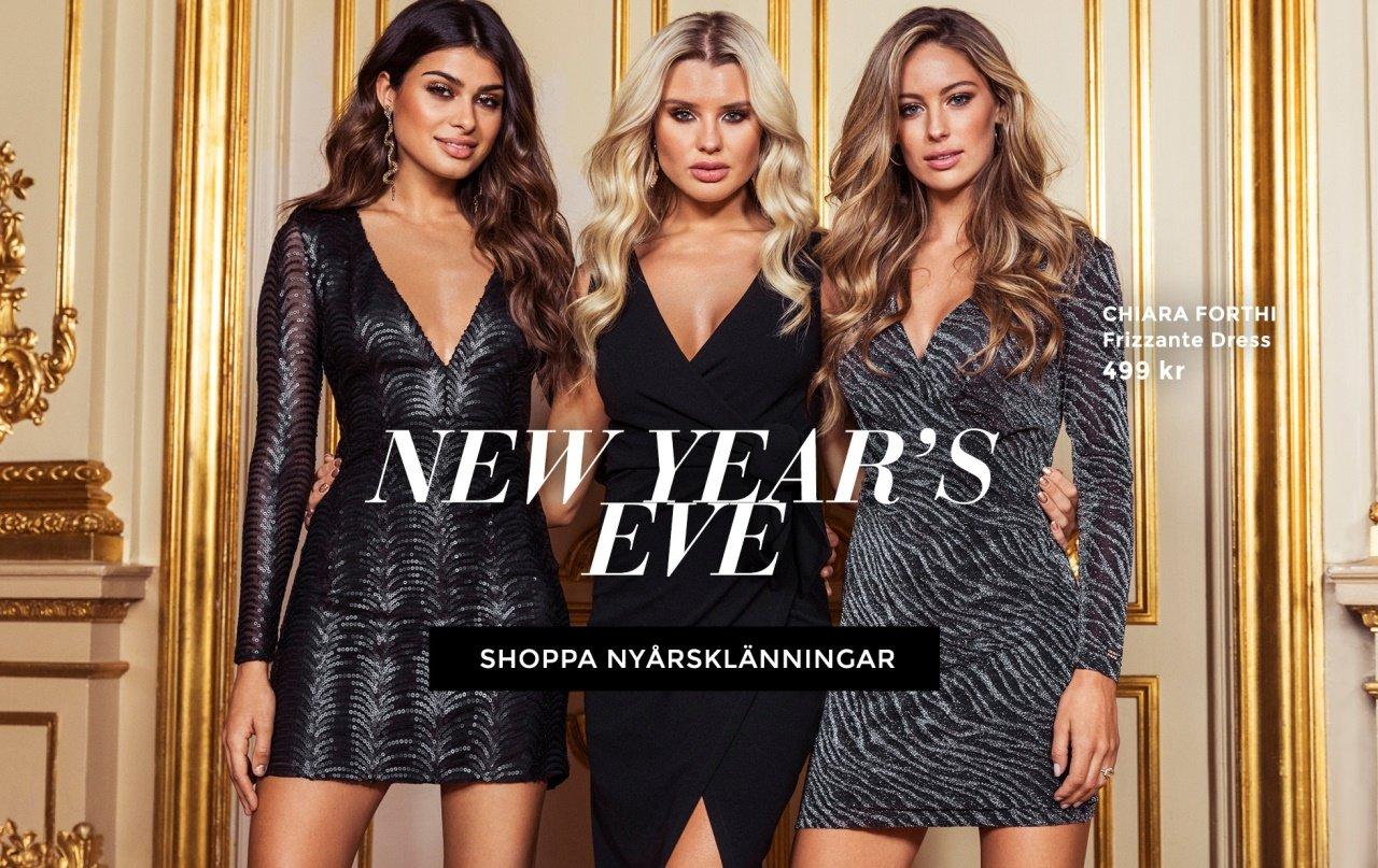 Shoppa nyårsklänningen nu, paljettklänningar, glittrande klänningar och den lilla svarta