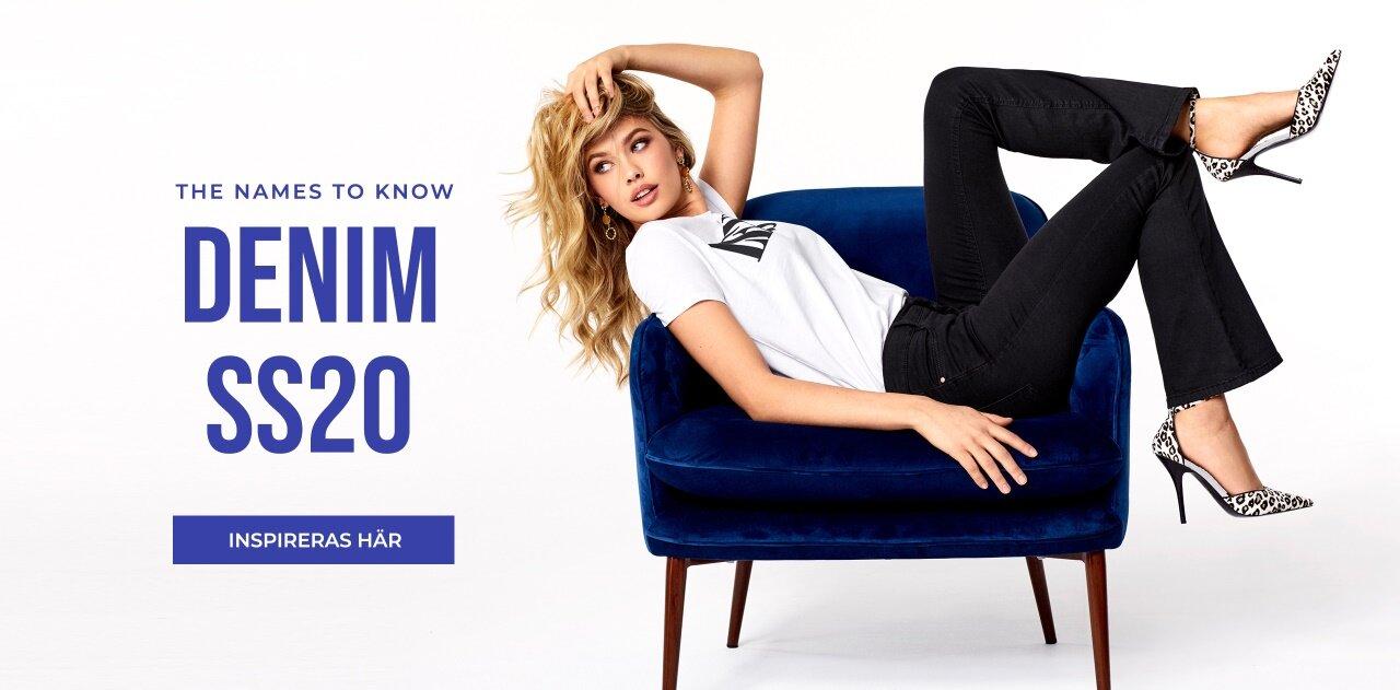High waits, flared eller slim - shoppa säsongens jeans på Bubbleroom