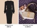 Klänning från Bubbleroom och väska från The Marc Jacobs