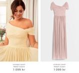 Pink Mesh Gown och Yellow Mesh Gown