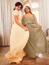 Nicole Falciani Mesh Gown och Chiffon Gown