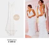 Vacker brudklänning designad av Nicole Falciani
