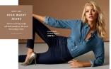 High Waist Jeans - Jeansen med hög midja och skön passform