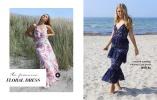 Blommig klänning från Chiara Forthi och spetsklänning från Carolina Gynning X Bubbleroom