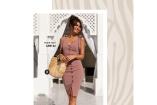 Reiko klänning med träknappar