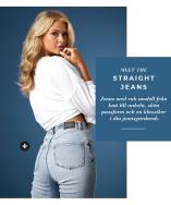 Ett par jeans i rak passform, är en given klassiker i din jeansgarderob