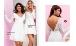 Spetsklänningar i vitt