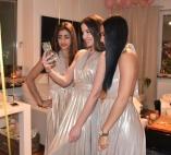 Multi tie klänning i metallic guld