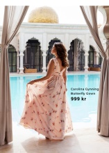 Carolina Gynning Butterfly Gown i rosa