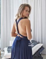 Marinblå långklänning från Goddiva