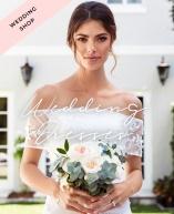 Shoppa brudklänningar, brudtärneklänningar och klänningar för bröllopsgästen