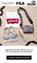 Shoppa märkesklappar - FILA, D.brand, Levis, Marc Jacobs, Michael Kors, Calvin Klein, Dorina, PUMA
