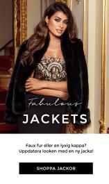 Shoppa jackor - Fuskpälsjackor, faux fur jackor, kappor, trenchcoats, finjackor, partyjackor