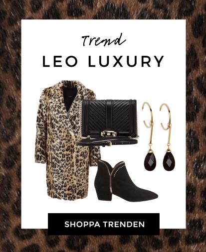 Leopardmönstrat och toppar i leopard