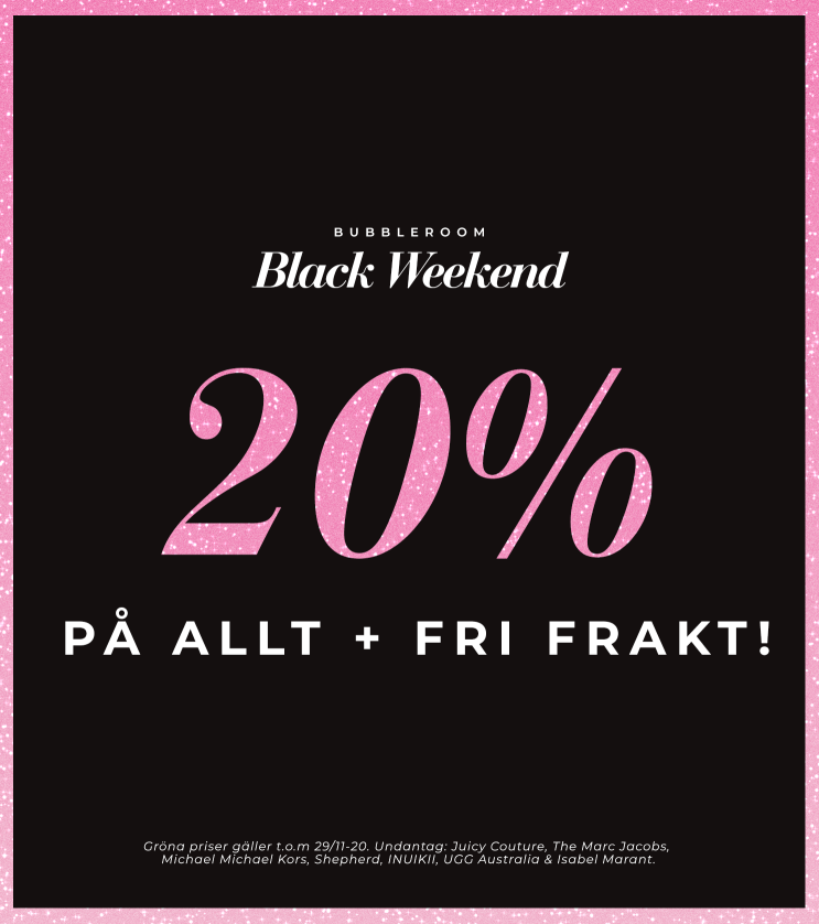 Black weekend - 20% på allt + fri frakt!