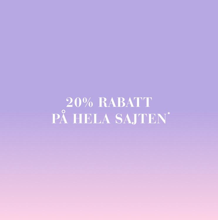 20% rabatt på hela sajten - Shoppa här