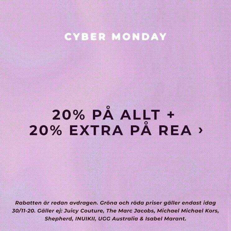 Cyber Monday - 20% på allt + 20% på all rea! Shoppa här