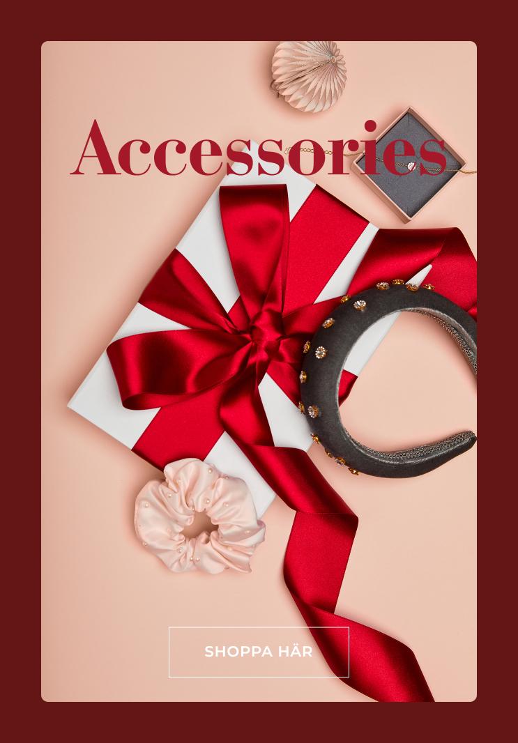 Piffa upp din juloutfit med fina accessoarer, eller ge bort i julklapp - Shoppa här