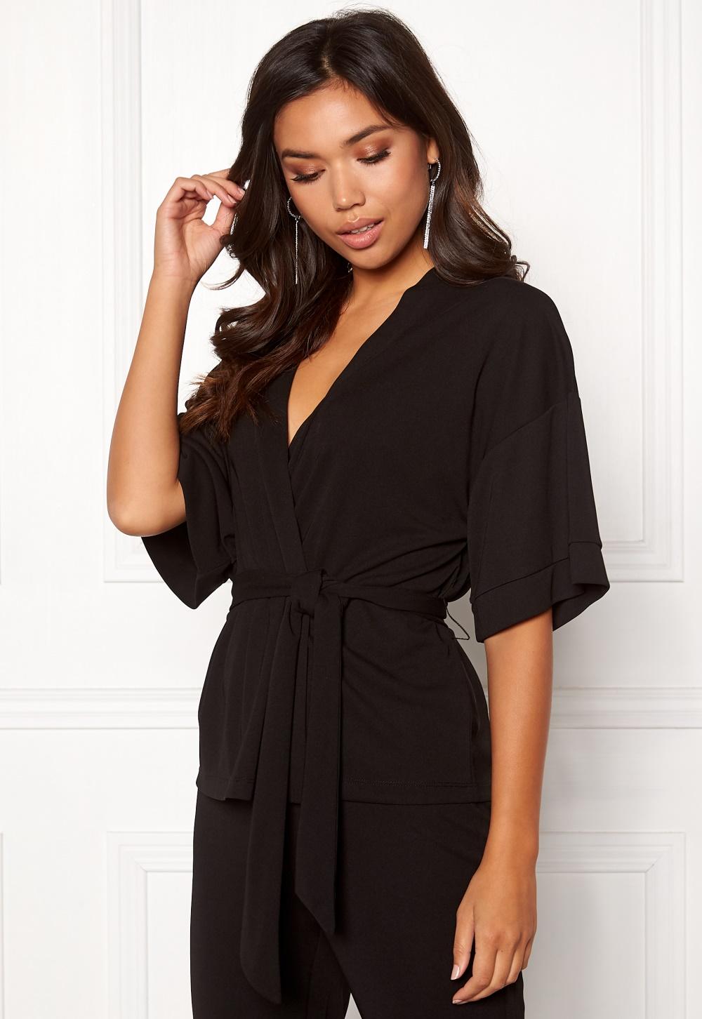 BUBBLEROOM Marianna kimono blazer Black