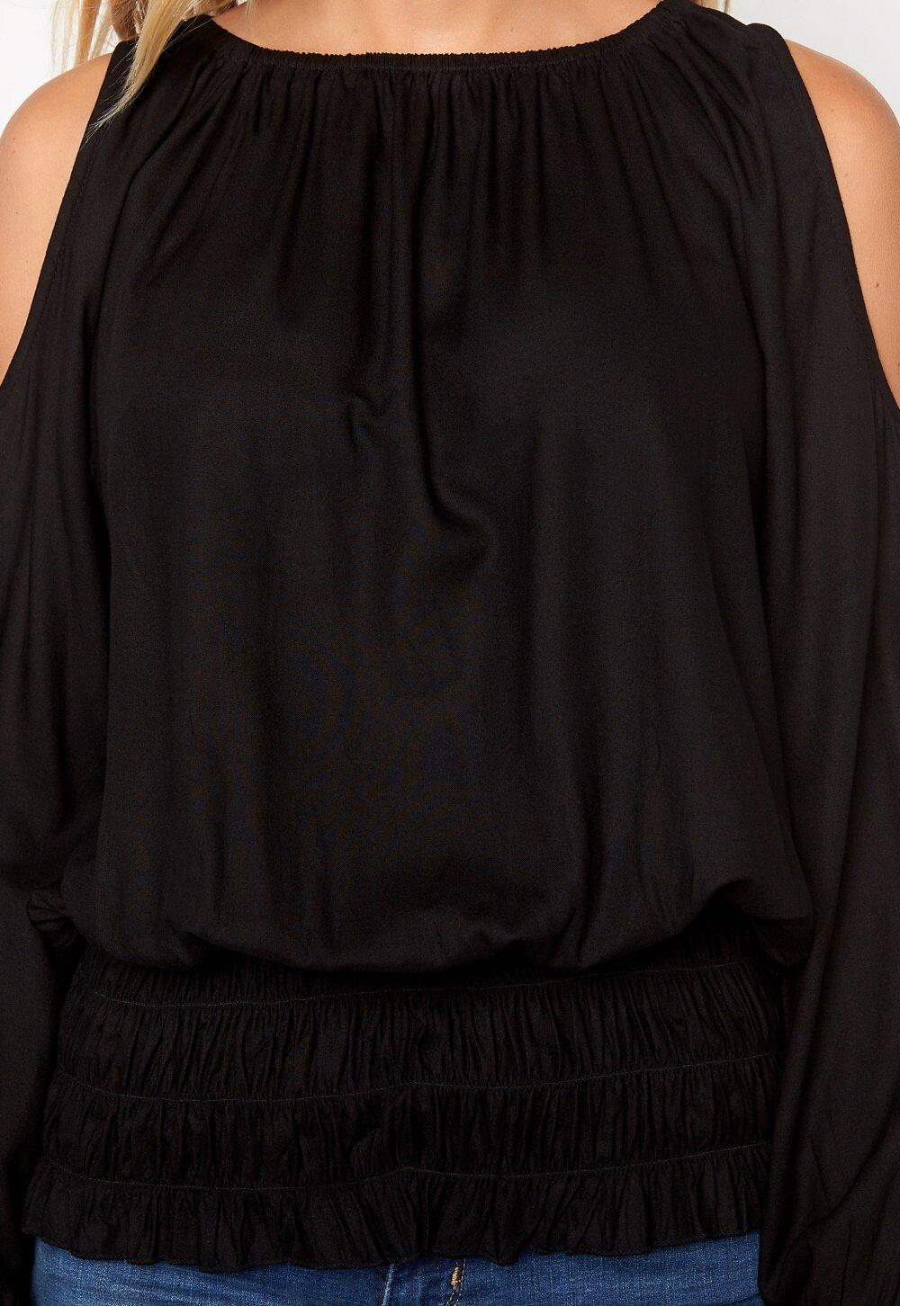 0fcf2be89a54 Chiara Forthi Cold Shoulder Top Black - Bubbleroom