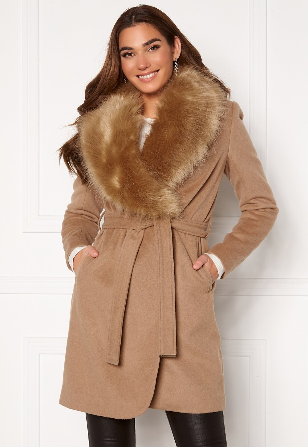 Chiara Forthi Verona Coat Camel Bubbleroom