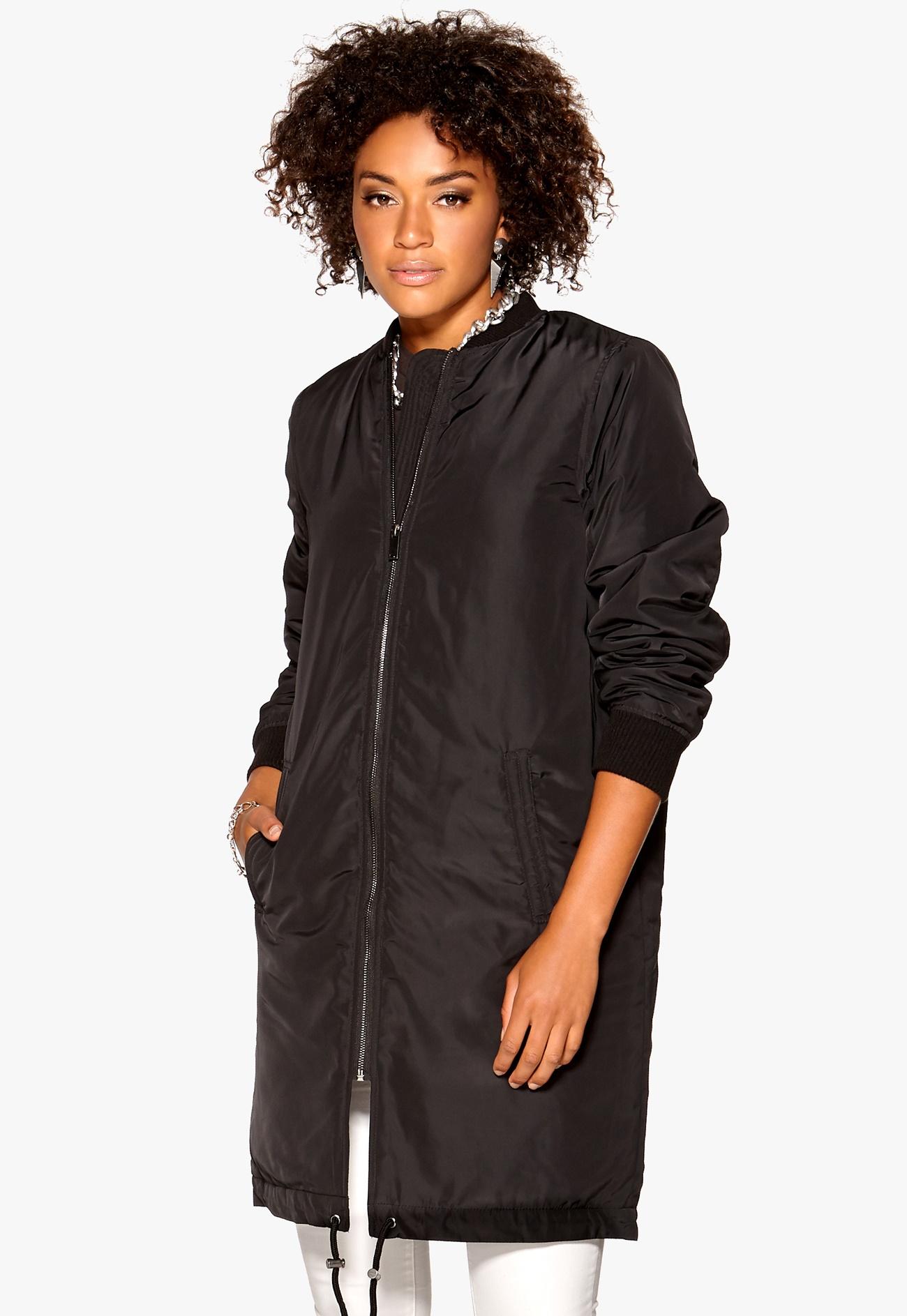 vero moda linea 3 4 jacket black bubbleroom. Black Bedroom Furniture Sets. Home Design Ideas