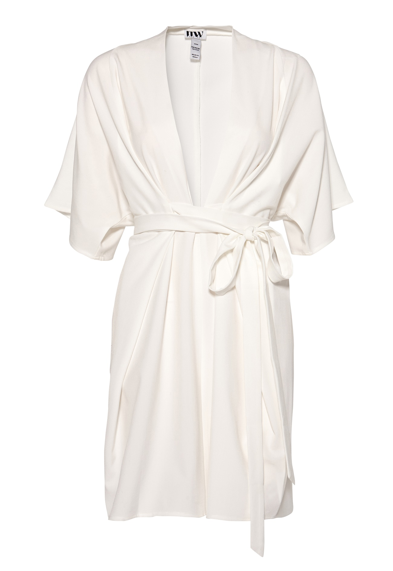 Make Way Karmen Kimono Dress White - Bubbleroom