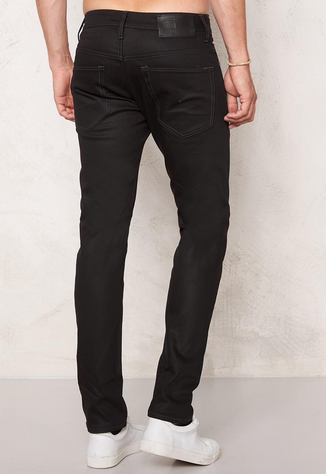 g star 3301 slim jeans raw black bubbleroom. Black Bedroom Furniture Sets. Home Design Ideas