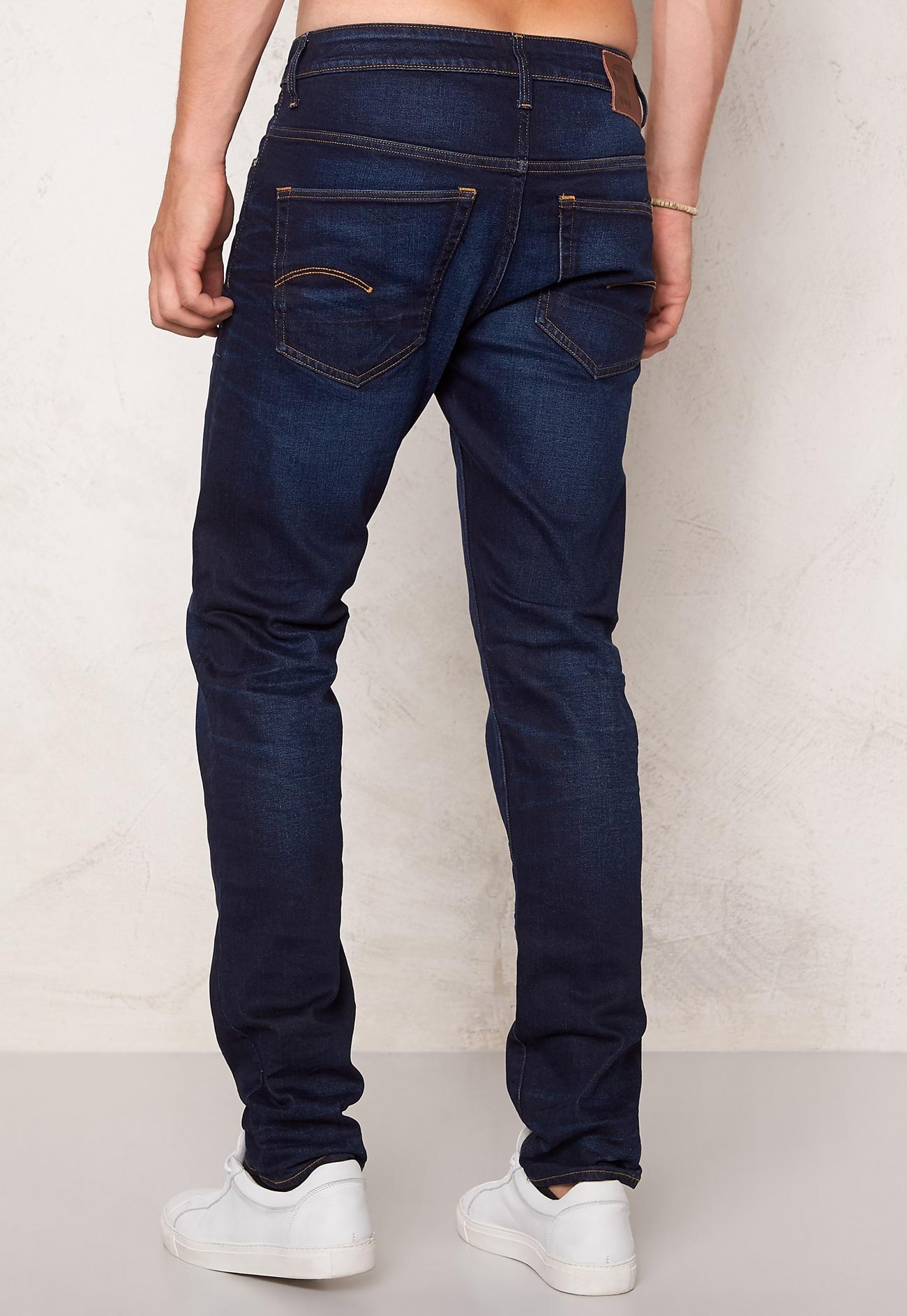 g star 3301 slim jeans blue aged denim bubbleroom. Black Bedroom Furniture Sets. Home Design Ideas