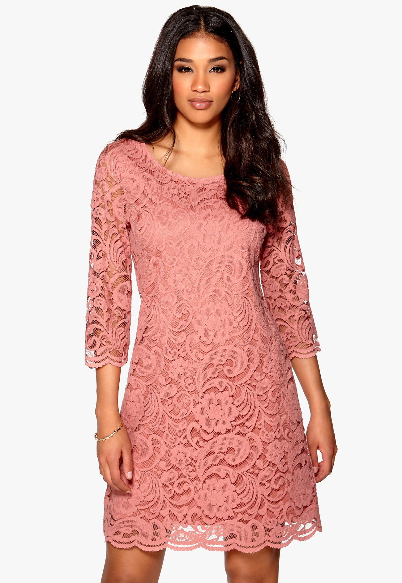 Happy Holly Lina lace dress Pink - Bubbleroom
