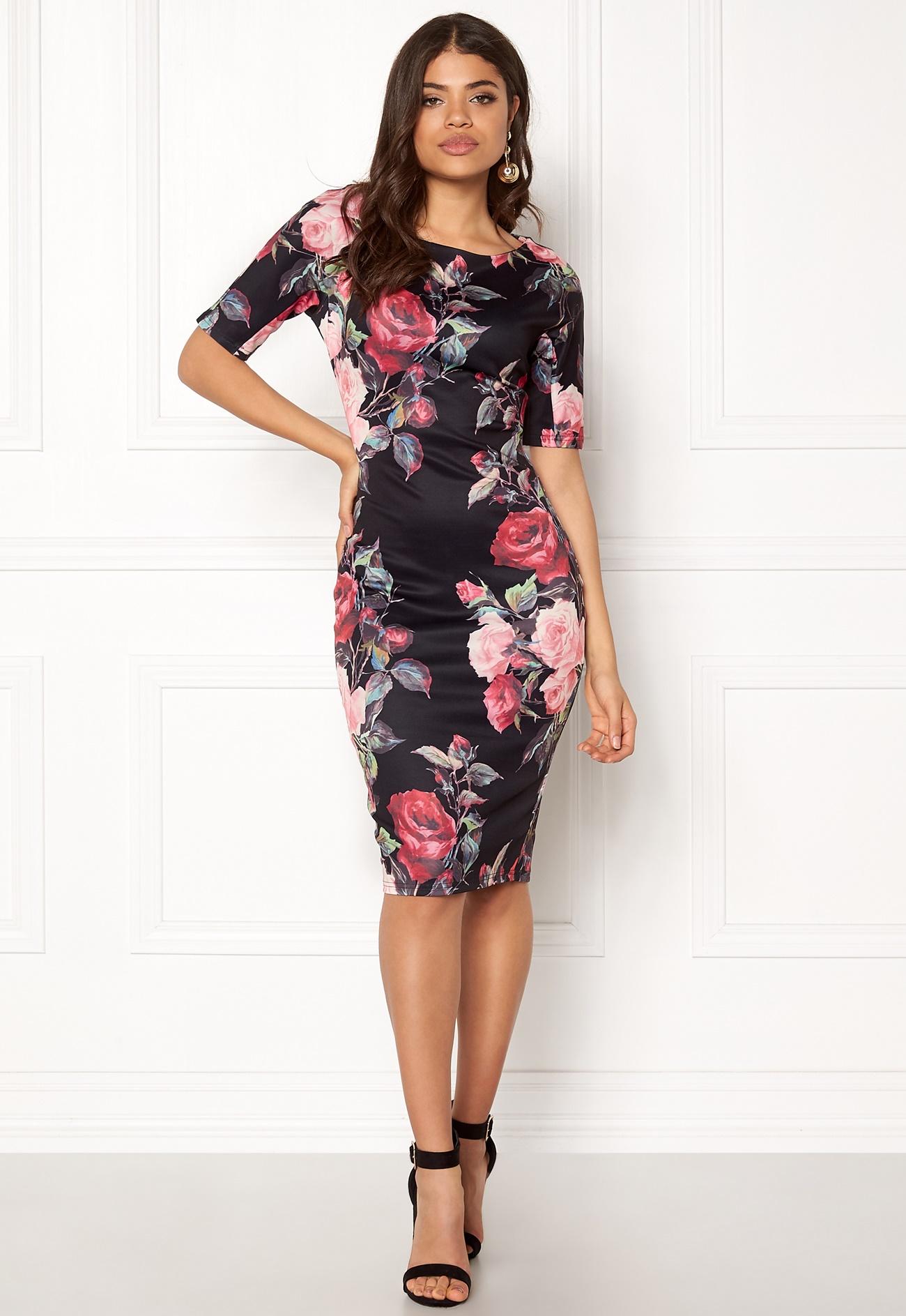 AX Paris Flow Chiffon Jewel Embellished Red Dress - Party